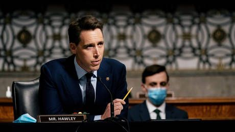 Senator Hawley finds new publisher after being blacklisted over Capitol riot. and his old publisher will have to distribute it