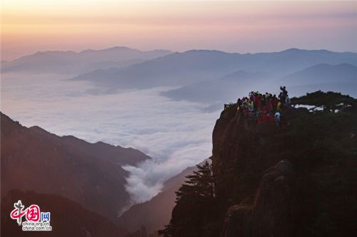 Mount Huangshan in sea of clouds