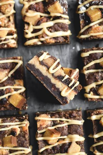 Triple Layer Chocolate-Peanut Butter Bars