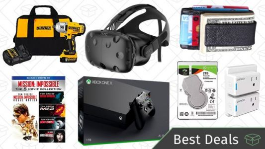 Tuesday's Best Deals: Minimalist Wallets, HTC Vive, DEWALT Tools, and More