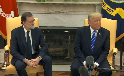President Trump holds press conference with Spanish PM