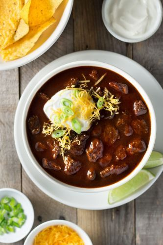 Texas Style Beef Chili with Cocoa and Stout