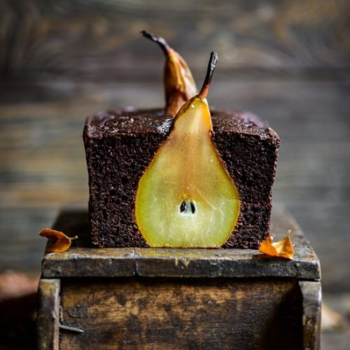 Pear and Chocolate Loaf Cake