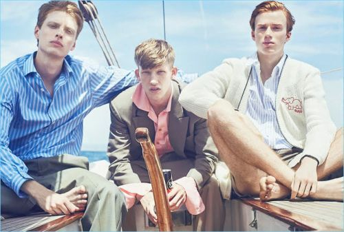 Connor Newall, Iwan Zalewski & Tymon Rutkowski Spend a Day at Sea with GQ China