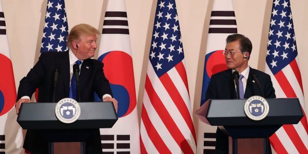 The White House dodged questions about whether it notified South Korea about cancelling the North Korea summit