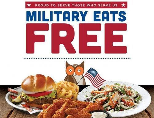 Military Eats Free at Hooters this Memorial Day