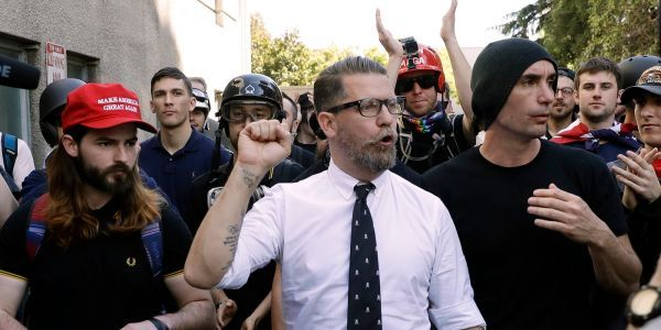 Proud Boys founder Gavin McInnes has been banned from YouTube over the 'dos and don'ts of public urination'