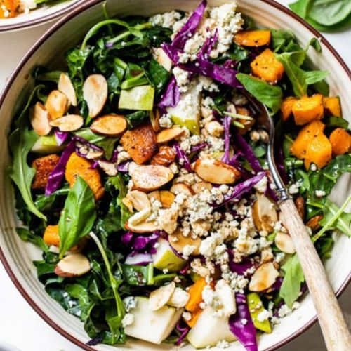 Squash Salad with Pears and Almonds