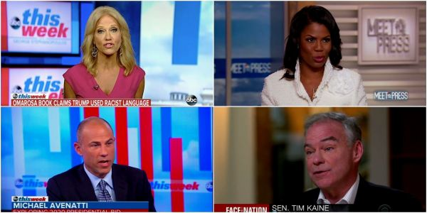 Omarosa's tell-all, the Charlottesville anniversary, and the 2020 election - here are the highlights from Sunday's political shows