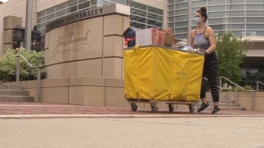 BU students back on campus with first day of move-in