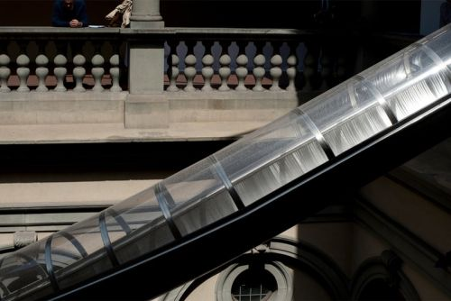 Carston Höller Erects 60-Foot Slides at Florence's Palazzo Strozzi