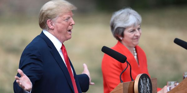 Trump tells May to abandon 'unjustified' food standards for Brexit trade deal