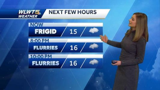 Flurries last through the night; cold lasts even longer