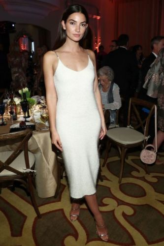 Lily Aldridge Makes A Statement in A White Textured 3.1 Phillip
