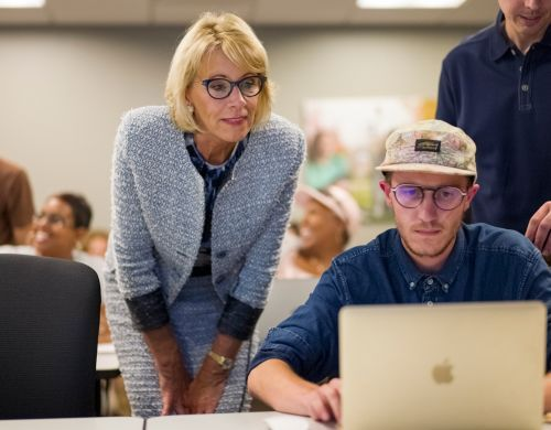 Betsy DeVos' bet on boot camps