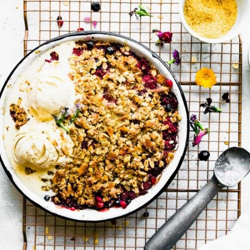 Coconut Mixed Berry Crisp