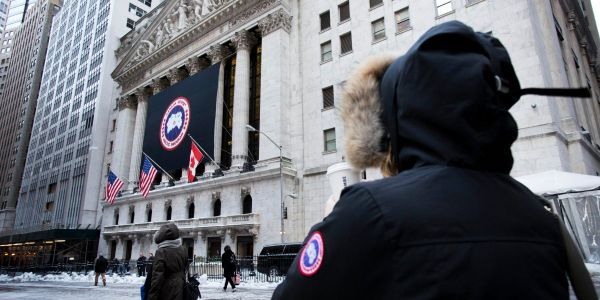 Canada Goose soars after posting a surprise profit
