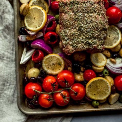 Sheet Pan Lamb Dinner
