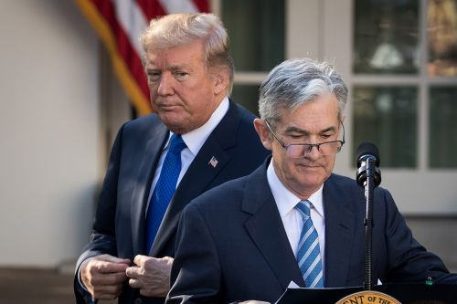 Trump blames Powell's Fed for economy's failure to hit 4 percent growth