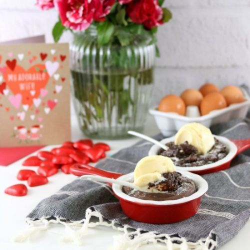 Gooey Chocolate Cakes for Two