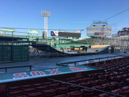 Nation's oldest ballpark being transformed for new extreme sport