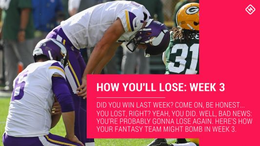 How Your Fantasy Football Team Will Lose: Week 3