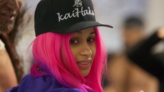 New Year, New Hair! Cards B Rocks Hot Pink And Purple Locks In New Zealand