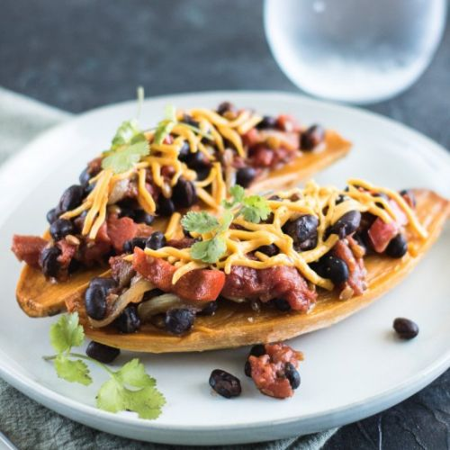 Sweet Potato Chili Boats
