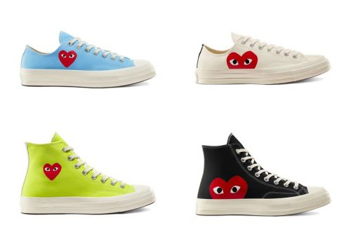 10 Styles of COMME des GARÇONS PLAY and Converse's Chuck 70s Have Restocked
