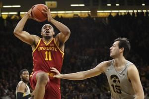 No. 18 Iowa cruises past Iowa State, 98-84