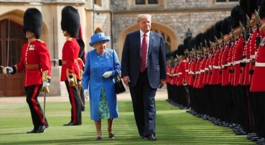 President Trump walked in front of Queen Elizabeth II and the internet erupted