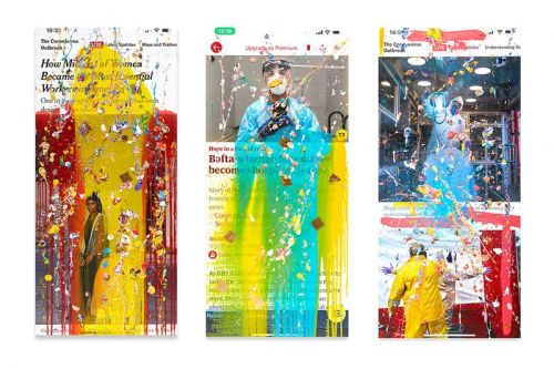 Marc Quinn's 'Viral Paintings' Feature Screenshots of News Stories on COVID-19