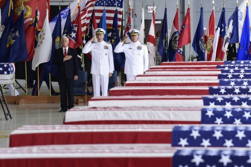 The US identified the first remains of American troops returned by North Korea since Trump-Kim summit