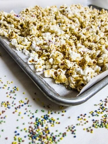 Vegan Birthday Cake Popcorn
