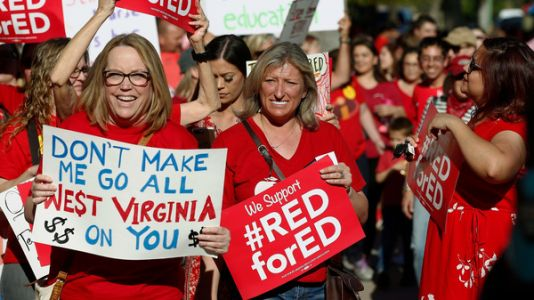 Arizona Teachers Vote To Strike, Sparking First-ever Statewide Walkout