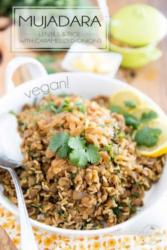 Mujadara - Lentils and Rice with Caramelized Onions