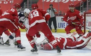 Ryan makes Red Wings history in 3-2 OT win over Blue Jackets