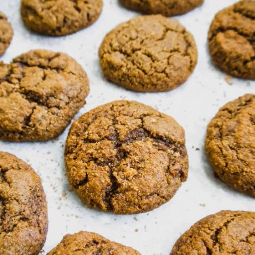 Soft Paleo Pumpkin Molasses Cookies