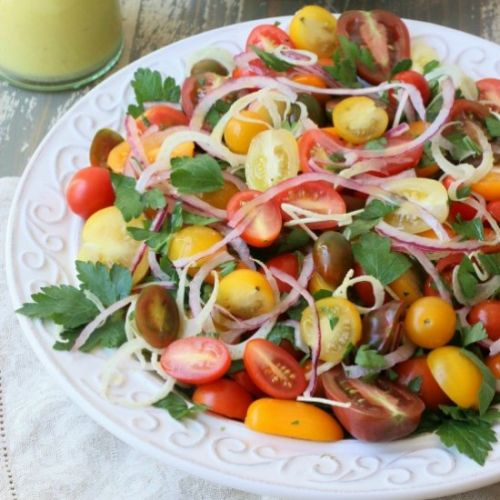 Tomato, Fennel & Red Onion Salad