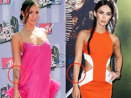 16 celebrities who had to cover up regrettable tattoos