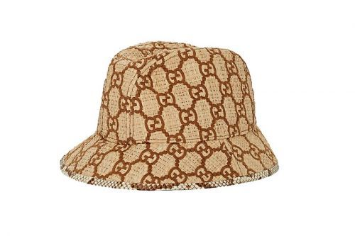 Gucci's GG Raffia Bucket Hat Comes Finished With a Snakeskin Trim