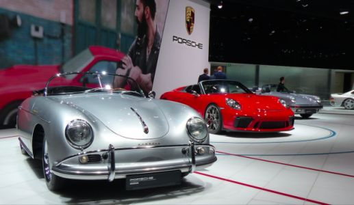 Check out this beautiful lineup of Porsche Speedsters at the Paris Motor Show