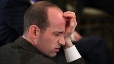 Stephen Miller Ridiculed Over Catnap During White House School Safety Meeting