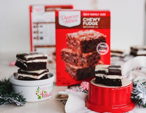 Peppermint Mocha Brownies DuncanHinesHoliday