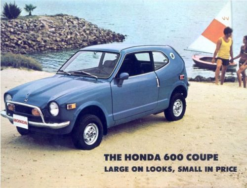 I think today you should take a cue from this 1971 Honda 600 Coupe ad and describe attractive things