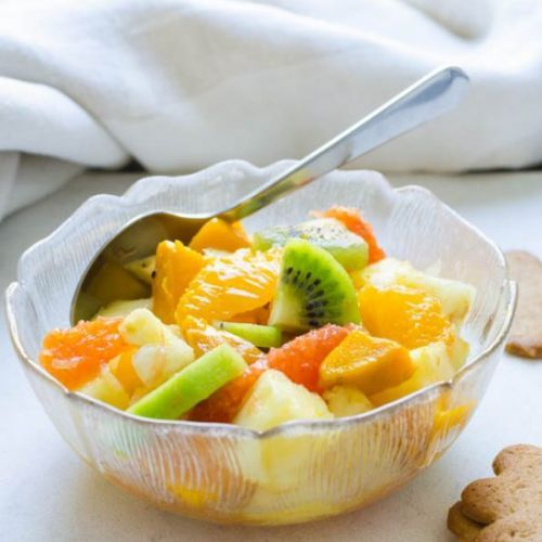 Rum Spiked Tropical Fruit Salad