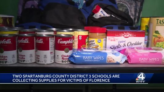 Schools in Spartanburg District 3 kick off fundraiser for Hurricane Florence victims