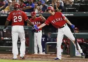 Beltre out of Rangers lineup after hurting hamstring again
