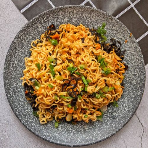 Vegan Chow Mein with Carrot