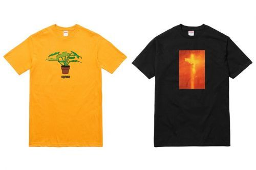 Supreme's Yellow Plant Tee Sold Out Faster Than the Serrano Collab Items
